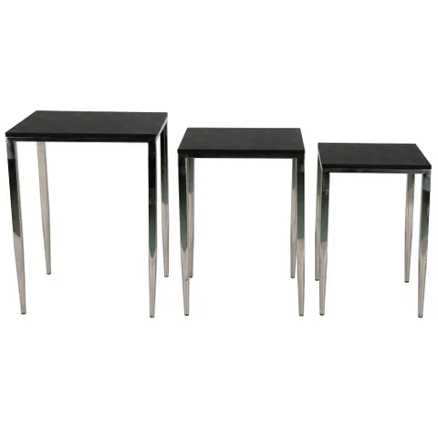 Le Moux Nesting 3 Tables Black