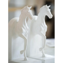 Load image into Gallery viewer, Le Equine Bookends Blanc