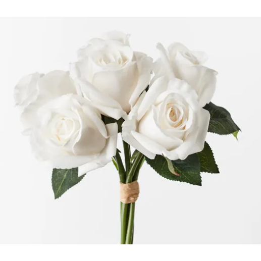 Florence Rose Bouquet White