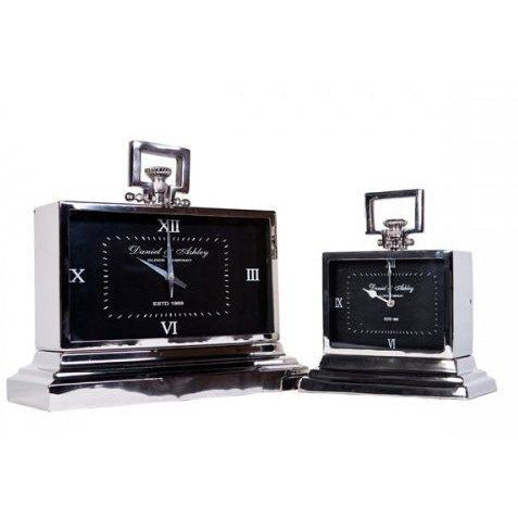 Daniel & Ashley Mantle Clock Noir - Maison De Luxe French Interiors