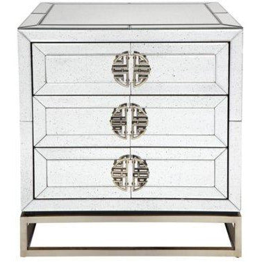 Roché Mirrored Bedside - Maison De Luxe French Interiors