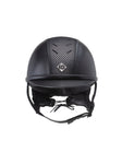 Charles Owen AYR8 PLUS Leather Look  Riding Helmet . Black