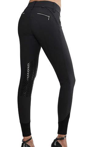 GhoDho Aubrie Breech - Black  With Silicone Knee Patch