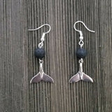 Minimalist Mermaid Tail Lava Stone Diffuser Earrings