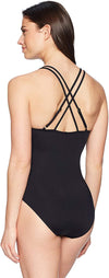 La Blanca Women's Island Goddess Underwire Double Strappy Back One Piece Swimsuit