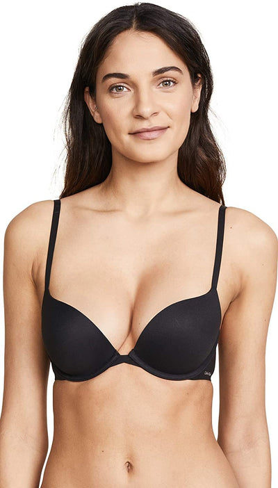 Calvin Klein Women's Perfectly Fit Push Up Plunge Memory Touch Bra