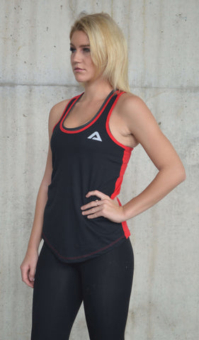 Ideal Racerback - Black/Red