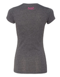 Women's Hope Fight Cure Tee - Charcoal