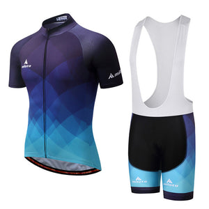 Andy Cycle Set w/bib - Black/Blue/White - Deluxe Riders