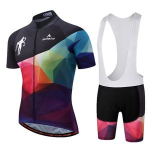 Como Team Cycle Set w/bib - Black/White/Multi-Color - Deluxe Riders