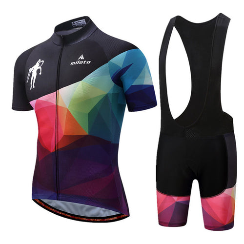 Como Team Cycle Set w/bib - Black/Multi-Color - Deluxe Riders