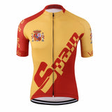 Men's Cycle Jersey ~ Short Sleeve, Spain - Deluxe Riders