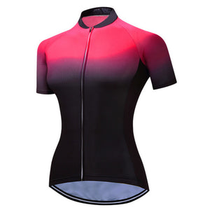Women's Cycle Jersey ~ Short Sleeve, Gradient - Deluxe Riders