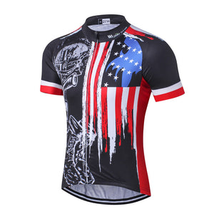 Men's Cycle Jersey ~ Short Sleeve, USA Honor - Deluxe Riders