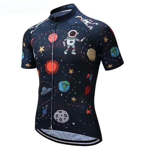 Men's Cycle Jersey ~ Short Sleeve, Astro - Deluxe Riders