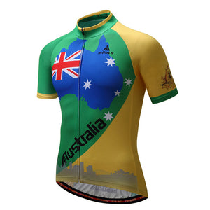 Men's Cycle Jersey ~ Short Sleeve, Australia 1 - Deluxe Riders