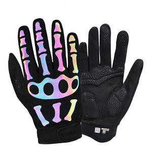 Gloves ~ Skeleton Reflective, 3 Styles - Deluxe Riders