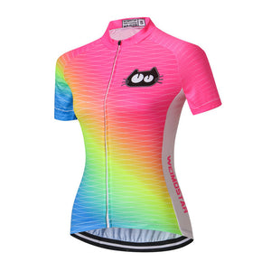 Women's Cycle Jersey ~ Short Sleeve, Weimeow - Deluxe Riders