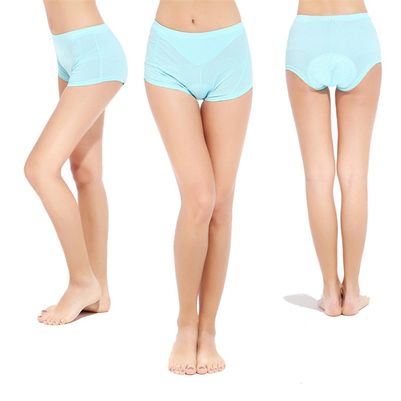 Women's Cycle Shorties ~ 3D Gel Pad, 3 Colors Plain - Deluxe Riders
