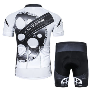 Men's Cycle Kit ~ Short Sleeve, Gears W - Deluxe Riders