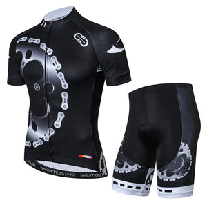 Men's Cycle Kit ~ Short Sleeve, Gears B - Deluxe Riders