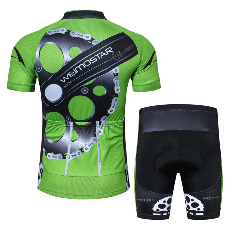 Men's Cycle Kit ~ Short Sleeve, Gears G - Deluxe Riders