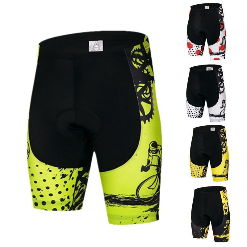 Men's Cycle Shorts ~ 4D Gel Pad, Gears 5 Colors - Deluxe Riders