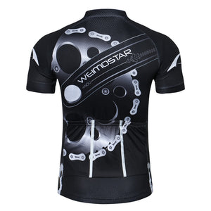Men's Cycle Jersey ~ Short Sleeve, Gears 4 Colors - Deluxe Riders