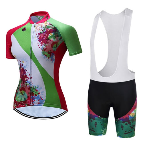 Womens Cycle Bib -OR- Shorts Kit, Gears G - Deluxe Riders