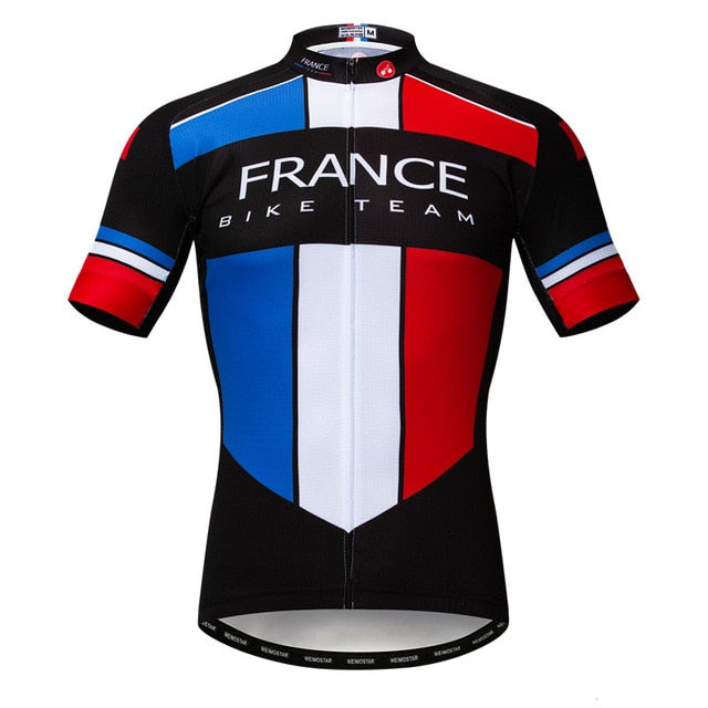 Men's Cycle Jersey ~ Short Sleeve, France - Deluxe Riders