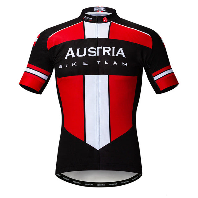 Men's Cycle Jersey ~ Short Sleeve, Austria - Deluxe Riders