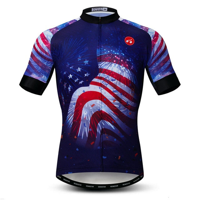 Men's Cycle Jersey ~ Short Sleeve, Independence - Deluxe Riders