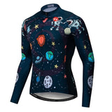 Men's Cycle Jersey ~ Long Sleeve, Astro - Deluxe Riders