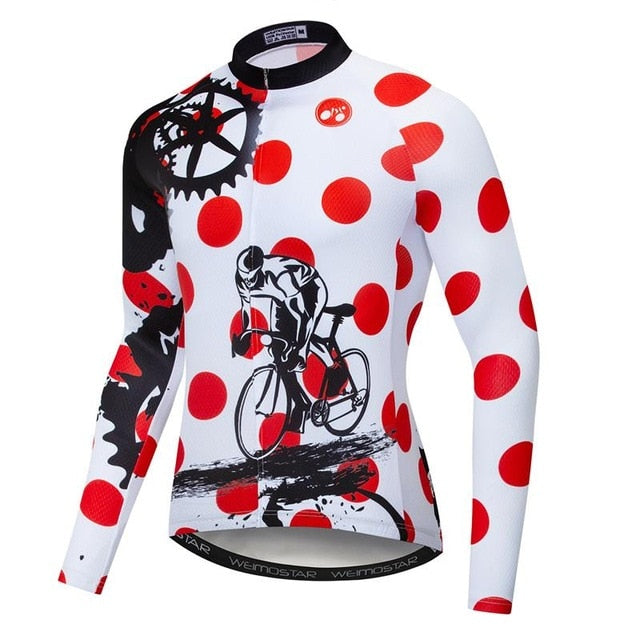 Men's Cycle Jersey ~ Long Sleeve, Focus R - Deluxe Riders