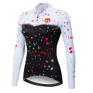 Women's Cycle Jersey ~ Long Sleeve, Painty - Deluxe Riders