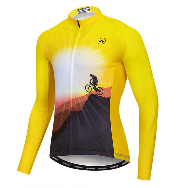 Men's Cycle Jersey ~ Long Sleeve, Champ Y 1/4 - Deluxe Riders