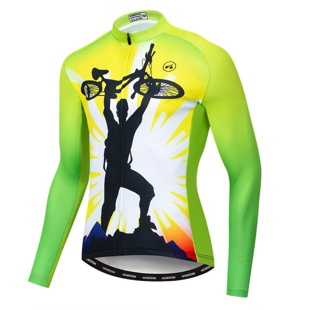 Men's Cycle Jersey ~ Long Sleeve, Champ G - Deluxe Riders