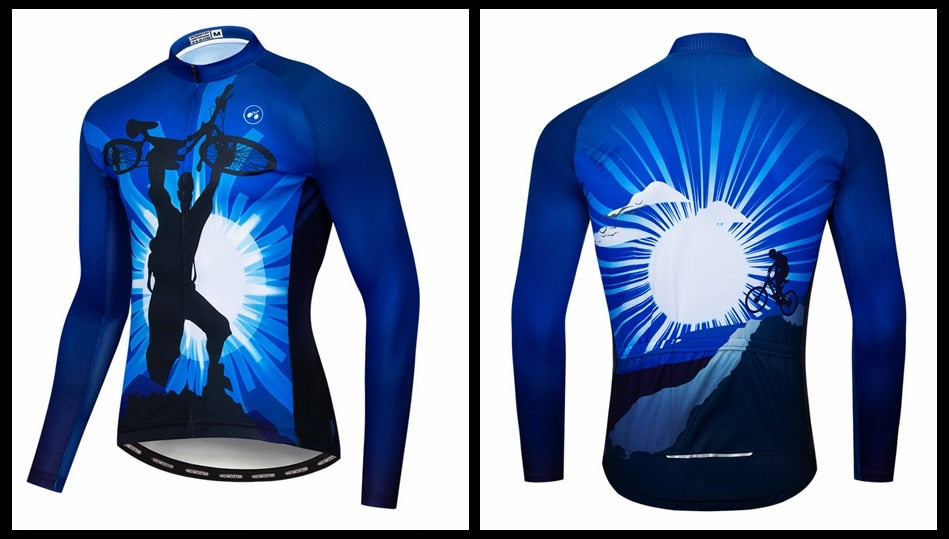 Men's Cycle Jersey ~ Long Sleeve, Champ B - Deluxe Riders