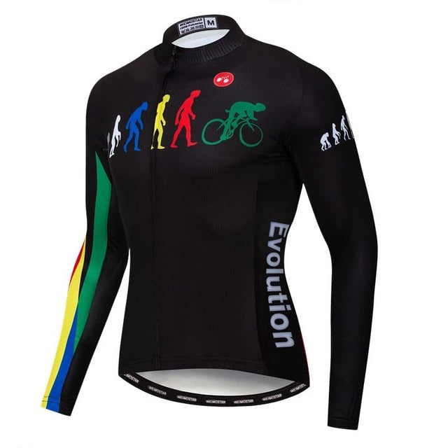 Men's Cycle Jersey ~ Long Sleeve, Evolution - Deluxe Riders