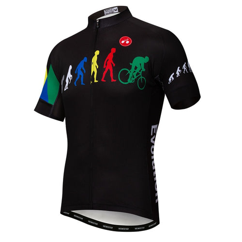 Men's Cycle Jersey ~ Short Sleeve, Evolution - Deluxe Riders
