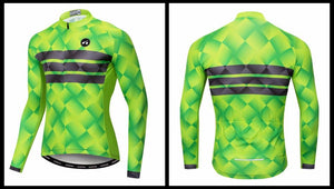 Men's Cycle Jersey ~ Long Sleeve, Neon Deon - Deluxe Riders