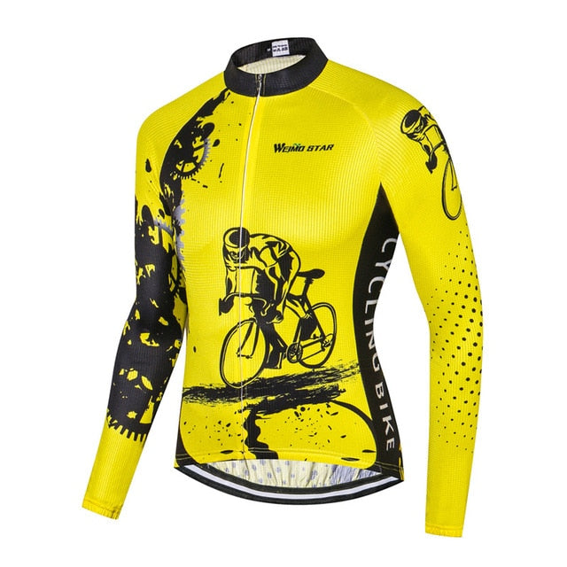 Men's Cycle Jersey ~ Long Sleeve, Focus Y - Deluxe Riders