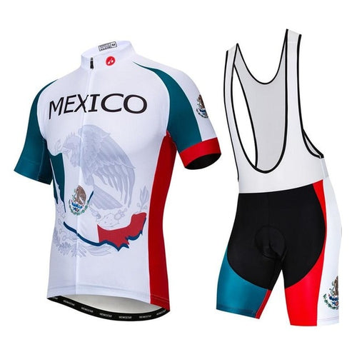Men's Cycle Kit -OR- Bib Shorts ~ Mexico - Deluxe Riders
