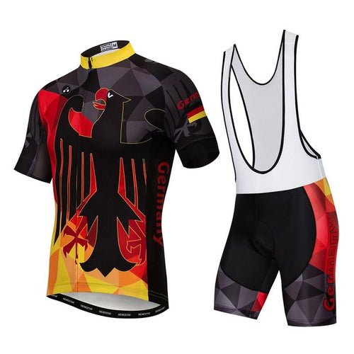 Men's Cycle Kit -OR- Bib Shorts ~ Germany - Deluxe Riders