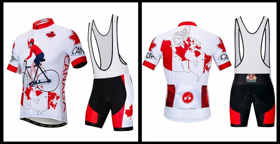 Men's Cycle Kit -OR- Bib Shorts ~ Canada - Deluxe Riders