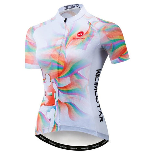 Women's Cycle Jersey ~ Short Sleeve, Run Lift - Deluxe Riders
