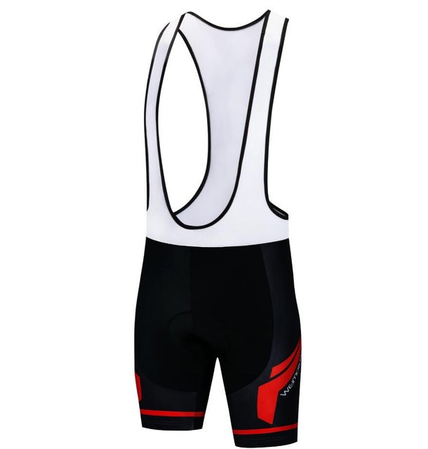 Men's Cycle Bib Shorts ~ Gel Pad, No Sleeve, 3W - Deluxe Riders
