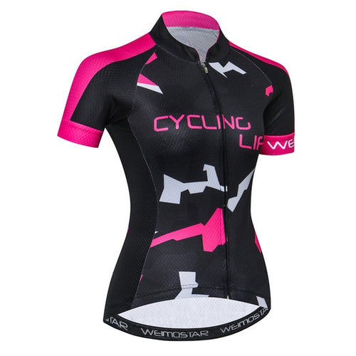 Women's Cycle Jersey ~ Short Sleeve, Cyc Life - Deluxe Riders