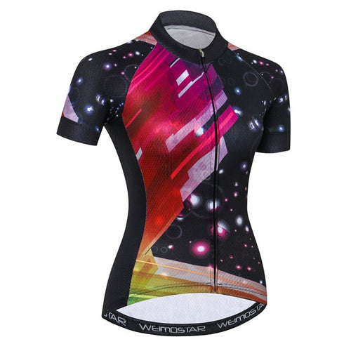 Women's Cycle Jersey ~ Short Sleeve, Galaxy - Deluxe Riders