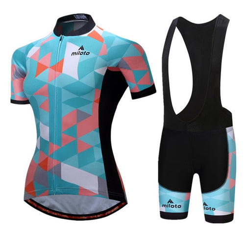 Womens Cycle Bib -OR- Shorts Kit, Mil Teal - Deluxe Riders